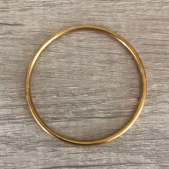 "Monet Vintage Bangle Bracelet Gold Tone 3"""